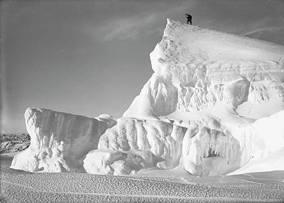 Human Landscape Photograph - Terra Nova Antarctic Exploration by Scott Polar Research Institute