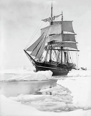 Terra Photograph - Terra Nova In Antarctic Pack Ice by Scott Polar Research Institute