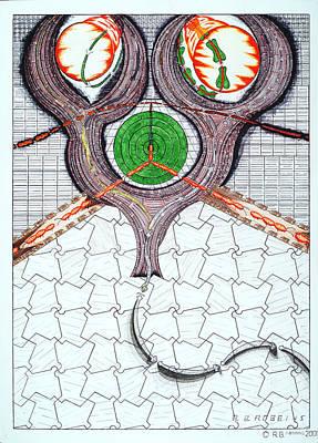Baseball Bats Mixed Media - Tessellation And Surrealism by Robert Robbins