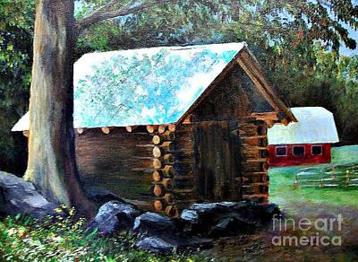 Painting - Tessentee Cabin by Susan M Fleischer