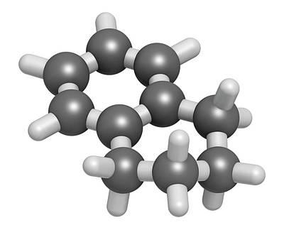 Digitally Generated Image Photograph - Tetralin Solvent Molecule by Molekuul