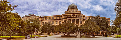Image Of Art Decor Photograph - Texas A And M Academic Plaza - College Station Texas by Silvio Ligutti