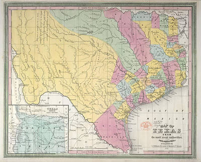 Map Of Texas Photograph - Texas by British Library