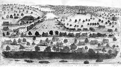 Destiny Painting - Texas City Of Austin, 1840 by Granger