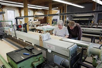 Textile Mill Loom Operator Training Art Print