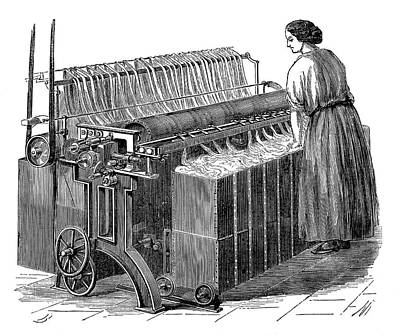 1874 Photograph - Textile Mill Warping Creel by Science Photo Library