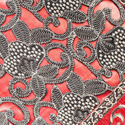 Textile Pattern Art Print by Tom Gowanlock