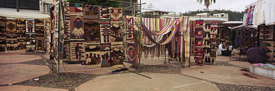 Textile Products In A Market, Ecuador Art Print