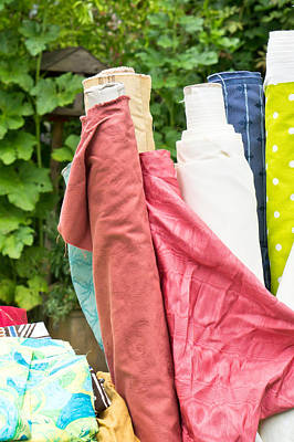 Rolled Yard Photograph - Textiles Sale by Tom Gowanlock