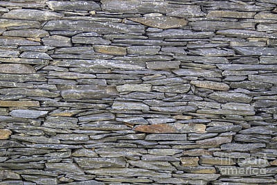 Western Art - Texture of old stones wall  by Sasas Photography