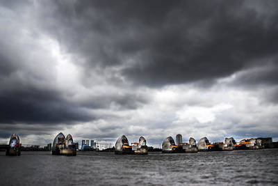 Floods Photograph - Thames Barrier by Mark Rogan