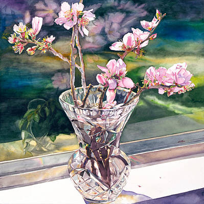 Cherry Blossoms Painting - Thank You Vincent by Judy Koenig