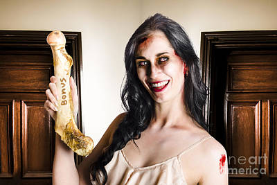 Thankful Zombie Businesswoman With Bonus Art Print by Jorgo Photography - Wall Art Gallery