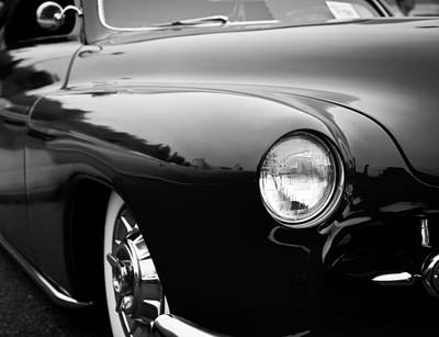 Black And White Photograph - The 1950 Mercury by David Patterson
