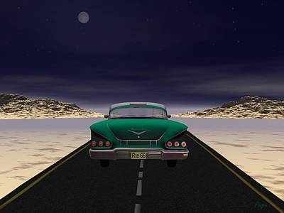 Art Print featuring the digital art The 58 On 66 by John Pangia