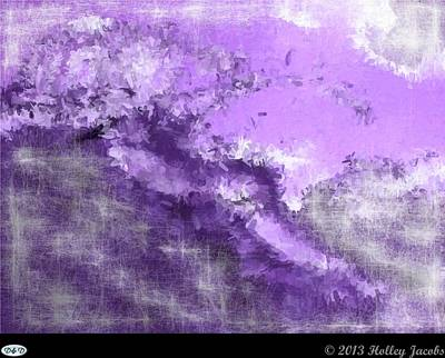 Digital Art - The Abyss Purple by Holley Jacobs