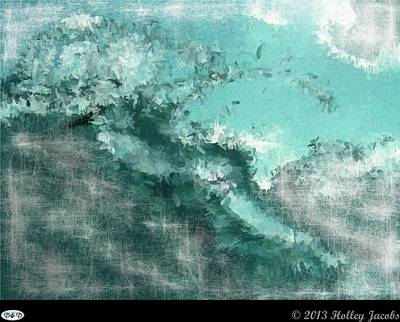 Digital Art - The Abyss Teal by Holley Jacobs