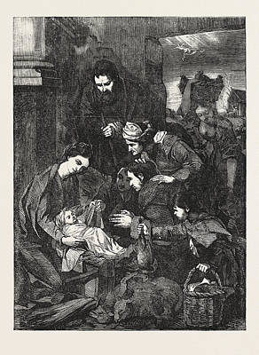 The Adoration Of The Shepherds Art Print by English School