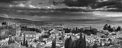The Alhambra And Albaycin In Granada Print by Guido Montanes Castillo
