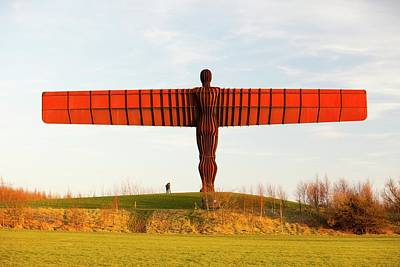The Angel Of The North Sculpture Art Print by Ashley Cooper