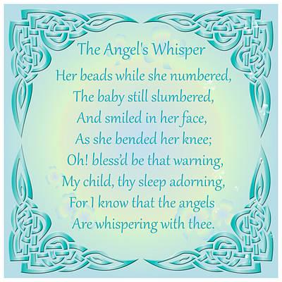 Digital Art - The Angel's Whisper by Ireland Calling