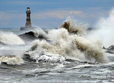The Angry Sea Print by Morag Bates