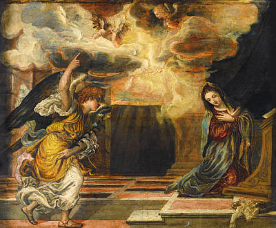 The Annunciation Print by Mountain Dreams
