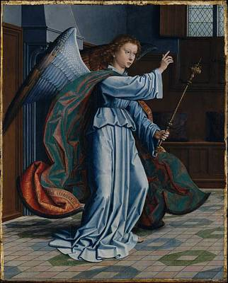 Angel Art Painting - The Annunciation by Gerard David