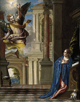 The Annunciation Art Print by Paolo Veronese