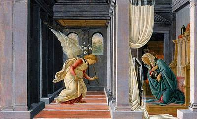 Sandro Botticelli Painting - The Annunciation by Sandro Botticelli