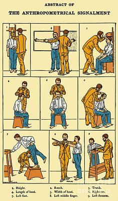 The Anthropometrical Signalment, 1896 Art Print by Science Source