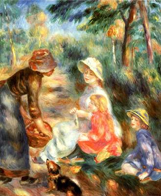 Digital Art - The Apple Seller by Pierre-Auguste Renoir