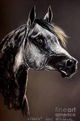 The Arabian Horse Art Print by Angel  Tarantella