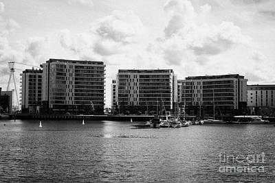the arc apartments and Belfast harbour marina queens island titanic quarter Northern Ireland UK Art Print