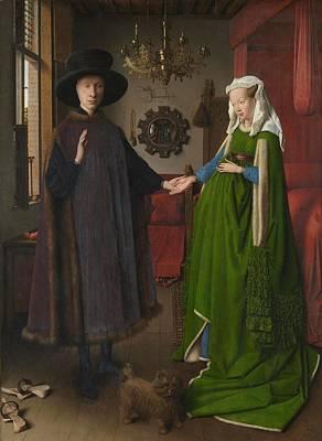 Netherlands Painting - The Arnolfini Portrait by Jan van Eyck