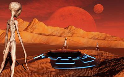 The Arrival Of Planet Nibiru As Seen Art Print