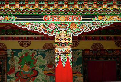 Tibetan Buddhism Photograph - The Art Found In The Arhitectural Style by Jaina Mishra