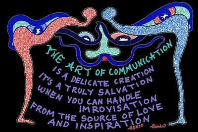 The Art Of Communication... Art Print by Genia GgXpress