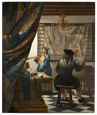 Johannes Vermeer Wall Art - Painting - The Art Of Painting by Johannes Vermeer