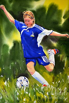 Painting - The Art Of Soccer by Kathy Flood