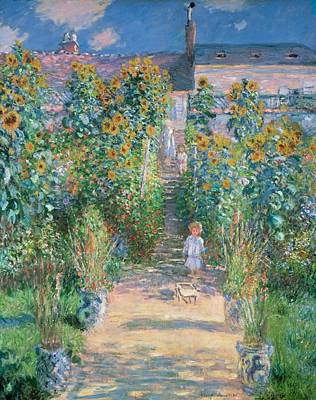 Vetheuil Painting - The Artist's Garden At Vetheuil by Claude Monet