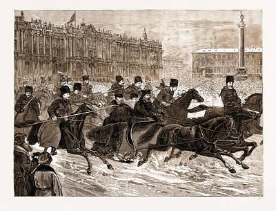 The Assassination Of The Late Czar Alexander II Art Print