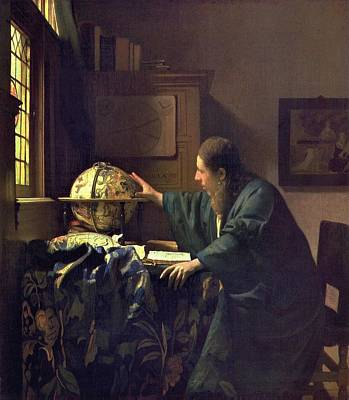 Astronomers Painting - The Astronomer by Johannes Vermeer