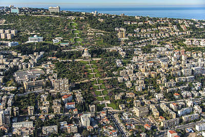 Bahai Photograph - The Bahai Temple In Haifa, Shrine by Ofir Ben Tov