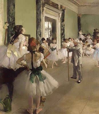Child Dancers Painting - The Ballet Class by Mountain Dreams