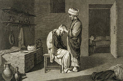 Arab Drawing - The Barber by Nicolas Jacques Conte