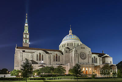 Blessed Virgin Photograph - The Basilica Of The National Shrine Of The Immaculate Conception by John Greim