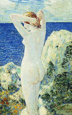 The Bather Print by Childe Hassam