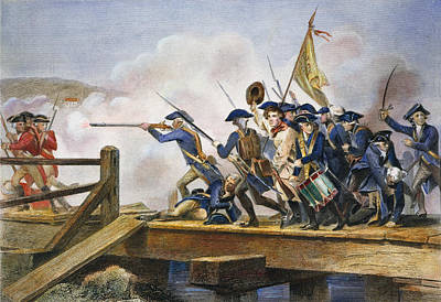 The Battle Of Concord, 1775 Art Print by Granger