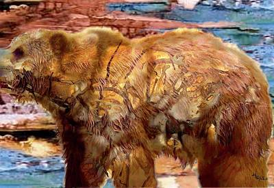 Painting - The Bear by Roger D Hale
